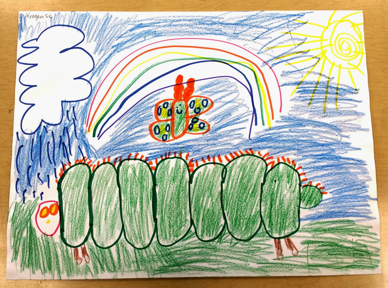 Paintbrush Rocket   Kindergarten Art Folders! org